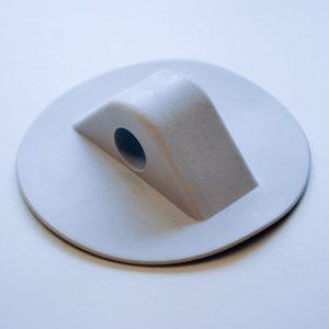 PVC Lifeline Holder 75mm Base x 10mm Hole