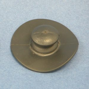 PVC Cleat Button 38mm Base x 16mm Button Black