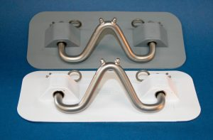 Rubber Snap Davit Pad and Hook Grey 270mm x 120mm Each