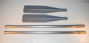 Alu Oars 160cm with Removable Blade Grey (Pair)