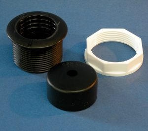 Small Cable Trunking Console Flange and Cap