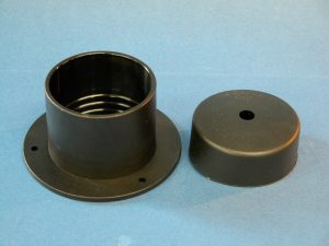 Large Cable Trunking Console Flange and Cap