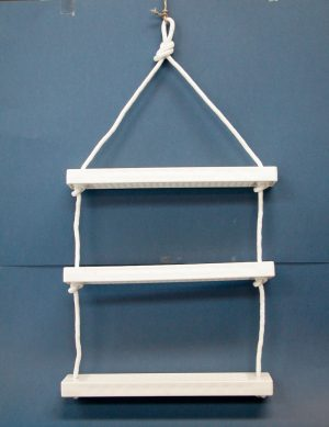 3 Step Rope Boarding Ladder