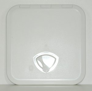 Plastic White Hatch 380mm x 380mm external