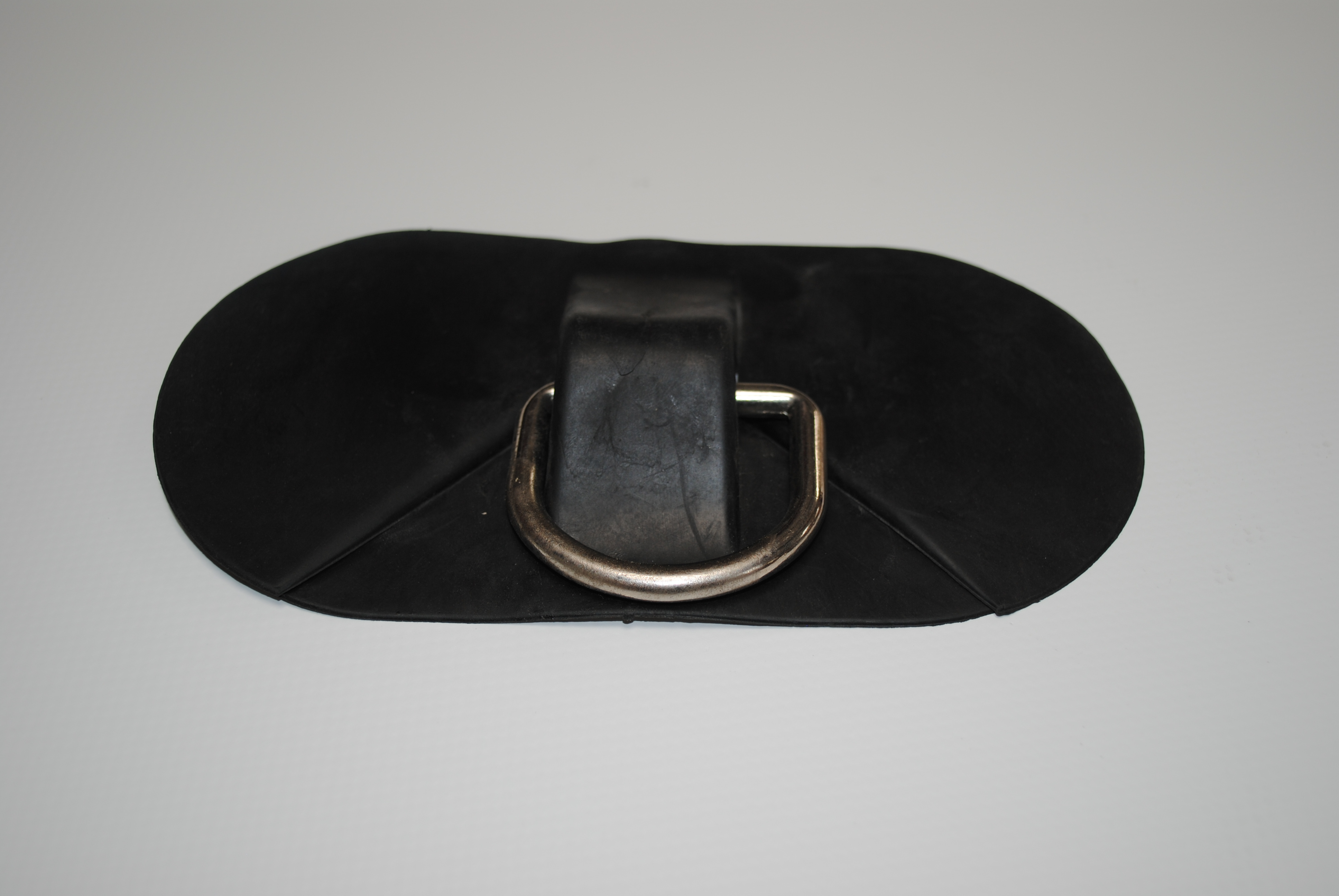 PVC Bow Black Oblong Base inc D Ring 175mm x 93mm