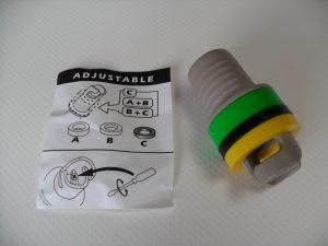 Halkey Roberts, Quicksilver, Wetline Honda, Zodiac inflate adaptor 21mm OD
