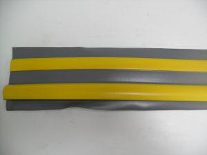 PVC Tear Drop Rubbing Strake Grey/Yellow 5M x 9.5cm