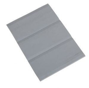 PVC Rubbing Strake Flat 3 Band 15cm Wide Grey