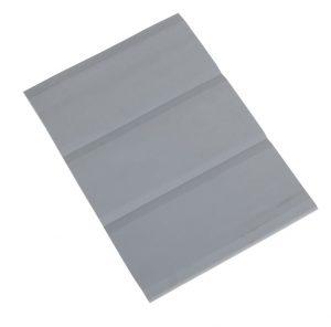 PVC Rubbing Strake Flat 3 Band 15cm Wide Grey
